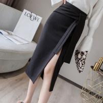 skirt Winter of 2019 S M L XL Apricot black Mid length dress commute High waist 25-29 years old LK193-5825 LK2003 Korean version Pure e-commerce (online only)