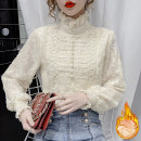 shirt Apricot [Plush] apricot [regular] S M L XL 2XL Spring 2021 other 96% and above Long sleeves commute Regular High collar Princess sleeve Solid color 25-29 years old Straight cylinder Manlin Korean version 8169A Other 100% Pure e-commerce (online only)