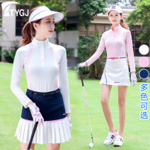 Golf apparel Top White Top Pink Top Navy T92 skirt Navy T06 skirt white T06 Skirt Pink T06 skirt Navy XS S M L XL XXL female TTYGJ Long sleeve T-shirt T78 long sleeve Autumn of 2019