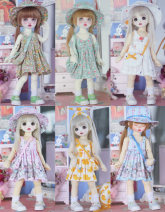 BJD doll zone suit 1/6 Under 3 years old goods in stock Sky blue, light green, cyan, white, pink, yellow 1 / 6 (6 points)