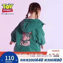 Plain coat Mini Balabala female 90cm 100cm 110cm 120cm 130cm Light earth yellow 3740 dark green 4720 spring and autumn Cartoon Single breasted There are models in the real shooting routine No detachable cap Cartoon animation blending other M1053190201 Polyester 100% other Autumn of 2019