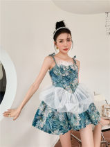 Dress Summer 2021 Black, oil blue, white shirt S,M,L singleton  camisole AF031