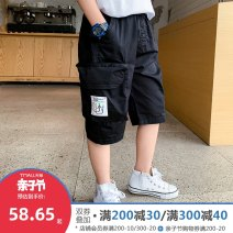 trousers Lovell male 110cm 120cm 130cm 140cm 150cm 160cm Black orange Collection Plus priority delivery tmall quality worry free shopping summer Cropped Trousers leisure time There are models in the real shooting Overalls Leather belt middle-waisted Don't open the crotch Cotton 100% KZL1257 Class B