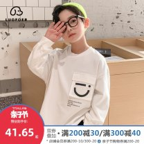 Sweater / sweater Lovell White and black first collect and then purchase, priority delivery male 110cm 120cm 130cm 140cm 150cm 160cm spring and autumn nothing leisure time Socket Thin money There are models in the real shooting other Solid color Cotton 100% WYL1055 Class B Cotton liner Spring 2021