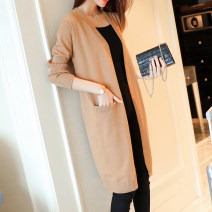 Wool knitwear Summer 2017 S M L XL Khaki Black Dark Brown Beige Long sleeves singleton  Cardigan other More than 95% Medium length routine commute easy V-neck routine Solid color Korean version MDR17C0770 25-29 years old Meidor / Meiduo Pocket tuck thread Other 100% Pure e-commerce (online only)