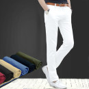 Casual pants Dascher Fashion City 27 28 29 30 31 32 33 34 36 38 routine trousers go to work Self cultivation No bullet summer youth Basic public 2017 middle-waisted Straight cylinder Cotton 98% polyurethane elastic fiber (spandex) 2% Overalls Arrest line Solid color plain cloth cotton Summer 2017