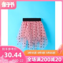 skirt 80cm 90cm 100cm 110cm 120cm 130cm Royal blue lotus root pink scarlet black Melodious home female Polyester 100% summer skirt leisure time Dot Pleats YYH.SQZF -990 other Summer of 2019