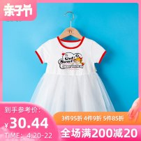 Dress Red and black female Melodious home 80cm 90cm 100cm 110cm 120cm 130cm Other 100% summer leisure time Short sleeve printing cotton Princess Dress YYH.SQZS -1462 other Summer 2021 12 months, 18 months, 2 years old, 3 years old, 4 years old, 5 years old, 6 years old Chinese Mainland Foshan City
