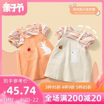 Dress Pink orange apricot female Melodious home 80cm 90cm 100cm 110cm 120cm 130cm Other 100% summer Sweet Short sleeve Embroidery cotton A-line skirt YYH.SQZS -1461 other Summer 2021 12 months, 18 months, 2 years old, 3 years old, 4 years old, 5 years old, 6 years old Chinese Mainland Foshan City