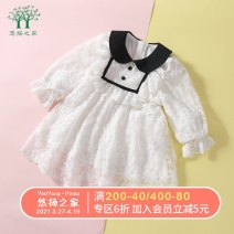 Dress white female Melodious home 80cm 90cm 100cm 110cm 120cm 130cm Other 100% spring and autumn princess Long sleeves Embroidery other Princess Dress YYH.SQZS -1418 Spring 2021 12 months, 18 months, 2 years old, 3 years old, 4 years old, 5 years old, 6 years old Chinese Mainland Guangdong Province