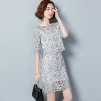 Fashion suit Spring of 2018 25-35 years old Romantic sisters 96% and above polyester fiber Polyester 100% Pure e-commerce (online only)