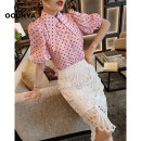 skirt Summer 2020 S M L white Middle-skirt commute High waist Irregular Solid color Type A 25-29 years old GX20508201 More than 95% Gounya / grenza polyester fiber Cut out asymmetric zipper lace Korean version Polyester 100% Pure e-commerce (online only)