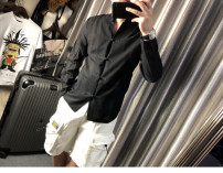 Jacket He's in a hurry Business gentleman black XL,L,M,S thin Self cultivation Other leisure Four seasons Long sleeves Wear out Baseball collar Business Casual teenagers routine Single breasted 2019 No iron treatment Solid color