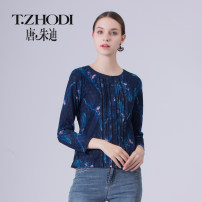 Lace / Chiffon Spring of 2019 Blue 55 purple 63 M L XL XXL XXXL XXXXL Nine point sleeve other Socket Self cultivation Regular routine 40-49 years old T. Zodi / Judy Tang T101001_ g1112q4v Splicing Other 100% Same model in shopping mall (sold online and offline)