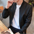 Jacket Other / other Youth fashion S,M,L,XL,2XL routine Super slim Other leisure autumn xunmoo609 Other 100% Long sleeves Wear out Baseball collar Youthful vigor teenagers routine Zipper placket 2016 Rib hem No iron treatment Closing sleeve Solid color Rib  Splicing Side seam pocket