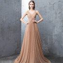Dress / evening wear Weddings, adulthood parties, company annual meetings, daily appointments S M L XL golden fashion longuette middle-waisted Spring 2021 Fall to the ground One shoulder zipper 26-35 years old flower Solid color Dai Mengxue other Other 100% Pure e-commerce (online only)