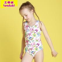 Children's swimsuit / pants Decor Children's one piece swimsuit female nylon Winter 2015