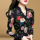 T-shirt Design and color without cashmere [in stock] design and color with cashmere and thickening M L XL 2XL 3XL 4XL Winter of 2018 Long sleeves stand collar Self cultivation Regular routine commute polyester fiber 86% (inclusive) -95% (inclusive) 25-29 years old Korean version other Broken flowers