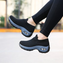 Low top shoes 35,36,37,38,39,40,41,42 Round head Wool Flat heel Middle heel (3-5cm) Deep mouth No interior Summer 2020 Trochanter leisure time Adhesive shoes Youth (18-40 years old), middle age (40-60 years old) Solid color rubber Lazy shoes daily
