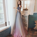 Dress / evening wear Weddings, adulthood parties, company annual meeting, performance date XS S M L XL XXL Picture color Korean version longuette middle-waisted Winter of 2019 Fall to the ground Sling type zipper 18-25 years old Sleeveless Embroidery Solid color Kang Wei other Other 100% other