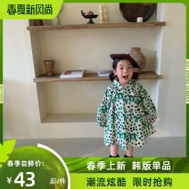 Dress green female Sweater beauty 140cm 110cm 120cm 130cm 100cm 90cm Other 100% spring and autumn lady Skirt / vest Dot Artificial colored cotton Cake skirt Class A Spring 2021 Chinese Mainland Shanghai Shanghai