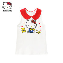 Dress female Cotton 96% polyurethane elastic fiber (spandex) 4% summer Cartoon animation Cotton blended fabric Vest skirt Summer 2020 12 months, 6 months, 9 months, 18 months, 2 years, 3 years, 4 years, 5 years, 6 years