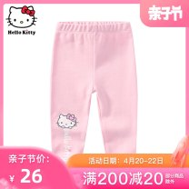 trousers C. T.house / caitongzhuang female 80cm 90cm 100cm 110 3A 110 3B summer trousers leisure time No model Leggings Leather belt middle-waisted cotton Don't open the crotch Cotton 95.5% polyurethane elastic fiber (spandex) 4.5% other 12 months 18 months 2 years 3 years 4 years