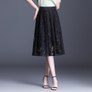 skirt Summer 2021 M,L,XL,2XL,3XL,4XL black Mid length dress Versatile High waist Pleated skirt Decor Type A 30-34 years old GHLDNS9636-1 More than 95% Lace Other / other other Pleats, Gouhua, hollowed out, gauze, zipper, printing, lace