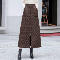 skirt Autumn of 2019 S,M,L,XL,2XL,3XL Brown, red, black Natural waist 25-29 years old 1153# Other / other Embroidery