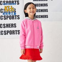 Plain coat SKECHERS / SKECHERS female 110cm 120cm 130cm 140cm 150cm 155cm spring and autumn leisure time Zipper shirt No detachable cap cotton Class B Winter 2020