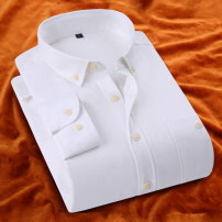 shirt Fashion City YMV M L XL 2XL 3XL Plush and thicken Pointed collar (regular) Long sleeves Self cultivation go to work winter H03 teenagers Cotton 57% polyester 43% Business Casual 2016 Solid color oxford Autumn 2016 washing Flocking Pure e-commerce (online only)