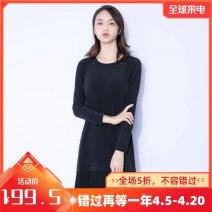 Dress Autumn 2020 black M,L,XL Middle-skirt Long sleeves