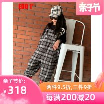 trousers Edo 1 ° / degree neutral 110cm 120cm 130cm 140cm 150cm 160cm Red and black spring and autumn trousers leisure time There are models in the real shooting rompers High waist Don't open the crotch Class C Autumn of 2019 Chinese Mainland Guangdong Province Shenzhen City