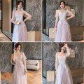 Dress / evening wear Weddings, adulthood parties, company annual meetings, daily appointments XXS XS S M L XL XXL grace longuette middle-waisted Autumn 2020 Fall to the ground One shoulder Bandage 18-25 years old BL-2039 Embroidery Solid color Simpson bishop sleeve Polyester 100%