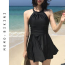 one piece  I've just seen you M,L,XL black Skirt one piece With chest pad without steel support nylon female