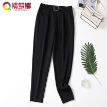 Women's large YC11665 Conjoined body 30-34 years old nylon Love Mengna 51% (inclusive) - 70% (inclusive) Polyamide fiber (nylon) 51.6% viscose fiber (viscose fiber) 40.5% polyurethane elastic fiber (spandex) 7.9% Autumn 2020 trousers singleton  commute Self cultivation moderate Solid color belt black