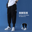 Casual pants Others Youth fashion Black, gray S. M, l, XL, 2XL, 3XL, 4XL, 5XL, XS plus small routine trousers Other leisure easy Four seasons Large size tide middle-waisted Little feet Polyester 100% Haren pants