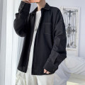 shirt Youth fashion Others S. M, l, XL, 2XL, 3XL, XS plus small, 4XL, 5XL White, black routine square neck Long sleeves easy Other leisure spring Large size tide 2021 Solid color polyester fiber More than 95%