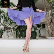 Latin bottom female S M L XL Black Purple Big skirt dancebaby Remba Chacha Samba cowboy bullfight other YS318 Spring 2021