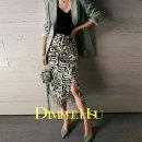 skirt Spring 2021 XS,S,M,L,XL Zebra pattern Mid length dress Versatile Natural waist Irregular Animal pattern B32151 91% (inclusive) - 95% (inclusive) Dimple Hsu silk