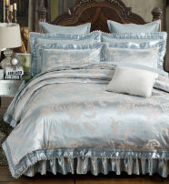 Bedding Set / four piece set / multi piece set Others Embroidery and quilting Others 133x72 Juyi Pavilion cotton 4 pieces 60 Bed cover, bed skirt, bed cover Qualified products Gong Tingfeng 95% (inclusive) - 100% (exclusive) cotton Reactive Print