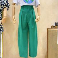 Casual pants Green (reservation), yellow (reservation), royal blue (reservation), sky blue (reservation), pink (reservation), beige (reservation), green (XH), yellow (XH), royal blue (XH), sky blue (XH), pink (XH), beige (XH) trousers Straight pants Natural waist commute routine 25-29 years old
