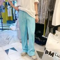 Casual pants Blue (reservation), turmeric (reservation), bean green (reservation), black (reservation), gray (reservation), beige (reservation), blue (XH), turmeric (XH), bean green (XH), black (XH), gray (XH), beige (XH) Average waist 56-90 hip 84-116 length 105 trousers Straight pants Natural waist