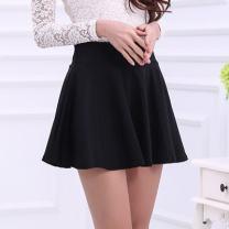 skirt Spring 2021 M (1'6-1'7), l (1'8-1'9), XL (2'2-2'1), XXL (2'2-2'3), XXXL (2'4-2'6) black Short skirt Versatile High waist Umbrella skirt Solid color Type A 91% (inclusive) - 95% (inclusive) knitting nylon fold 301g / m ^ 2 (including) - 350g / m ^ 2 (including)
