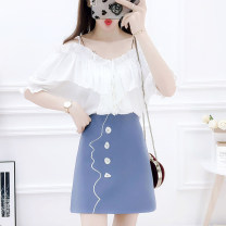 Fashion suit Summer of 2019 S M L XL White jacket orange skirt blue skirt black skirt white jacket + orange skirt white jacket + blue skirt white jacket + black skirt 25-35 years old Mogge / mogge MG19B0348 Other 100% Pure e-commerce (online only)