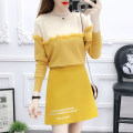 Fashion suit Winter of 2019 S M L Yellow jacket blue jacket black jacket yellow skirt blue skirt black skirt yellow jacket + yellow skirt blue jacket + blue skirt black jacket + black skirt Mogge / mogge MG19D0015 Other 100% Pure e-commerce (online only)
