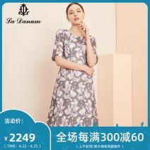 Dress Spring 2020 Decor 7/S 9/M 11/L 13/XL 15/XXL 17/XXXL longuette elbow sleeve commute 35-39 years old La Danum / Adana Simplicity LPS213DR0 More than 95% polyester fiber Polyester 100%