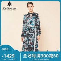 Dress Autumn of 2019 Decor 7/S 9/M 11/L 13/XL 15/XXL 17/XXXL Mid length dress Long sleeves commute 35-39 years old La Danum / Adana lady LFA559DR0 91% (inclusive) - 95% (inclusive) polyester fiber Polyester 94.3% wool 5.7%