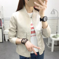 short coat Spring of 2019 M L XL XXL Long sleeves have cash less than that is registered in the accounts routine singleton  Self cultivation routine stand collar zipper Solid color 18-24 years old Maple flower 96% and above Pocket zipper other PU Exclusive payment of tmall