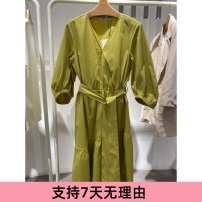 Dress Summer 2021 Mustard green 150/76A/XS,155/80A/S,160/84A/M,165/88A/L,170/92A/XL